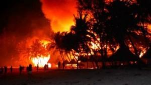 Watamu Beach Hotel. Incendio.