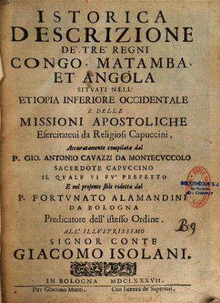 Istorica Descrizione de Tre Regni- Congo- Matamba-Angola