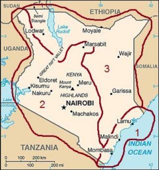 Mappa Clima del Kenya