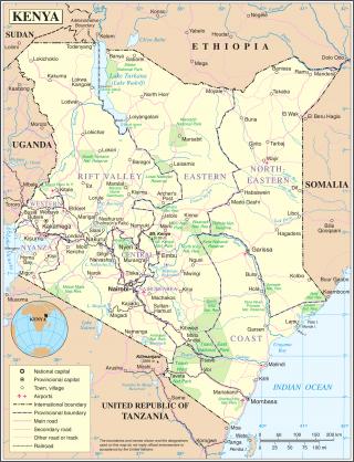 Mappa del Kenya