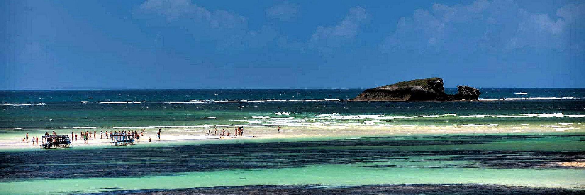 Panoramica litorale del Kenya