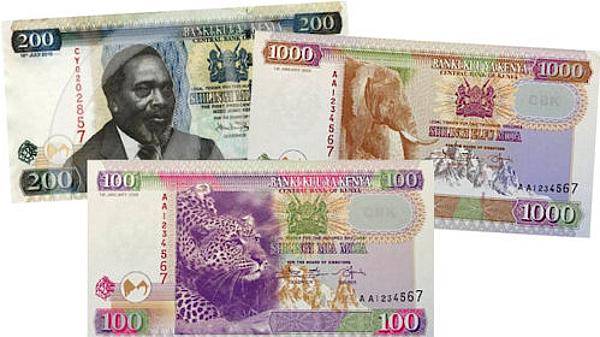 Vecchie e nuove banconote del Kenya